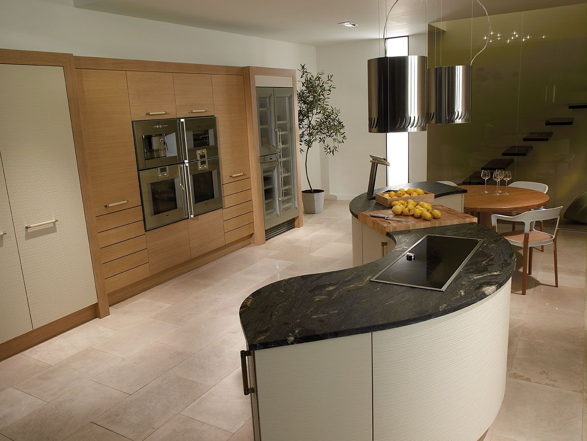 Curved Kitchen Islands With Sink on Kitchens Ideas (With