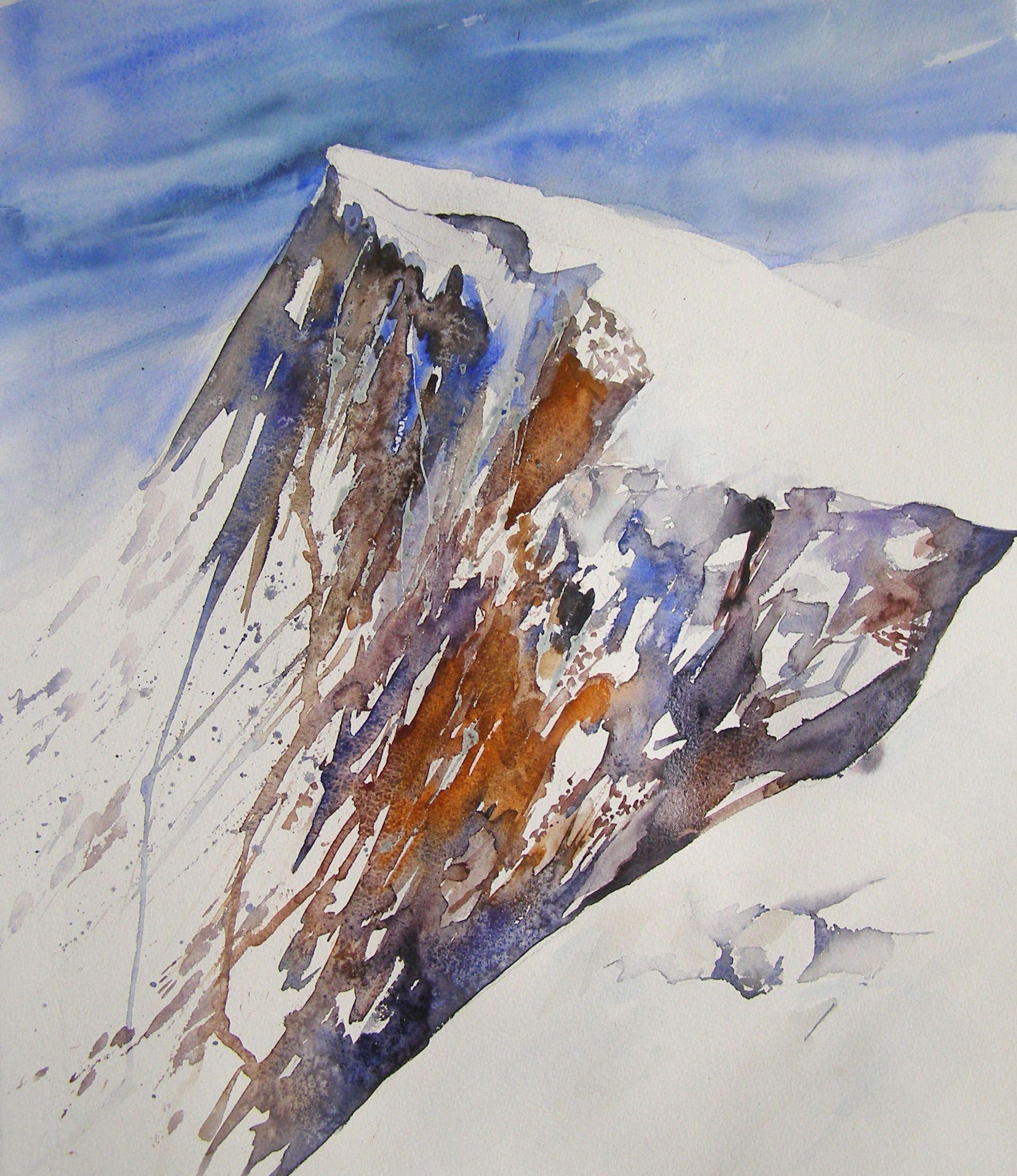 Josette Marrel Watercolor Watercolorarts Watercolor Mountains