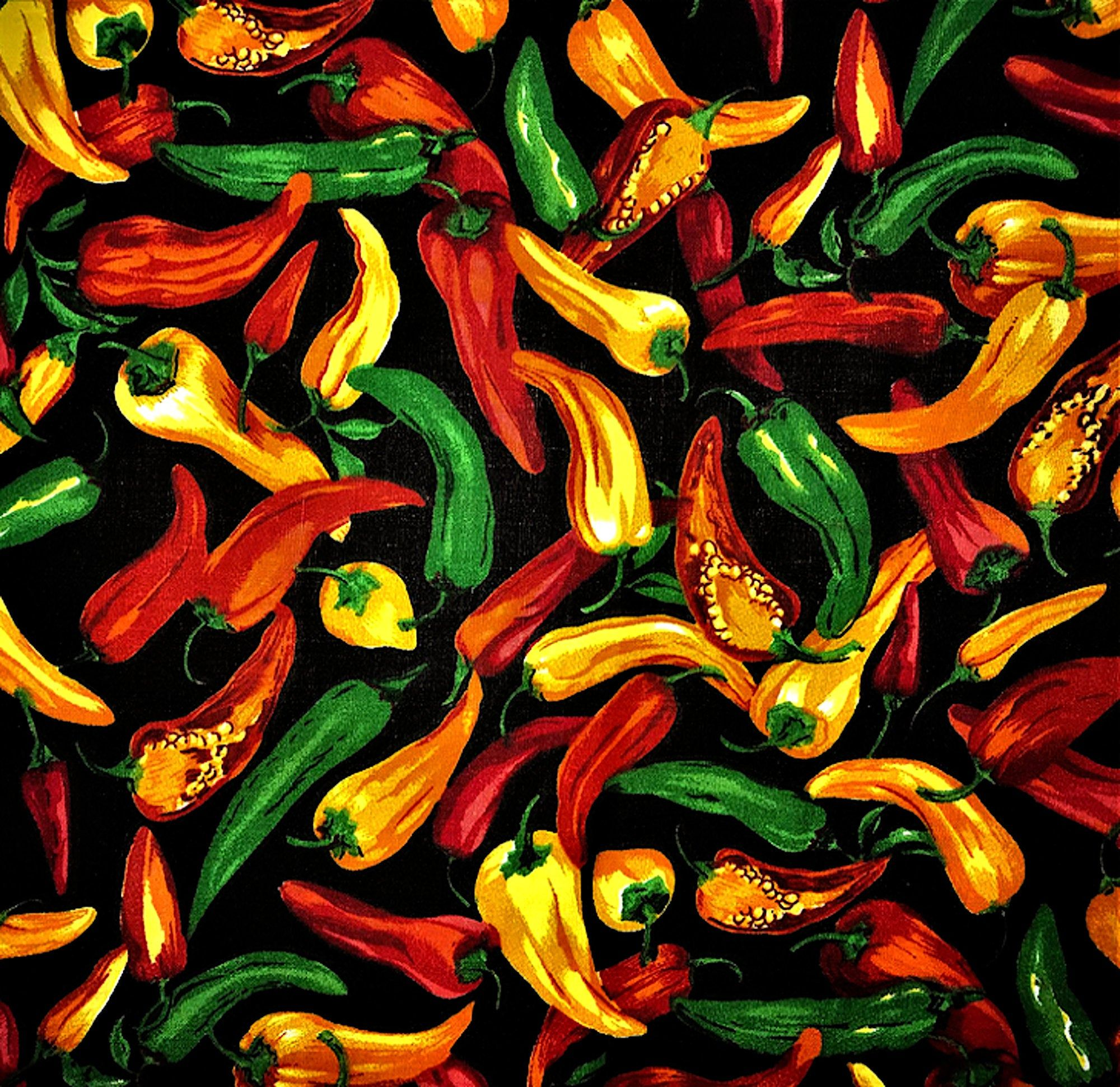 Chili Pepper Fabric Cotton Fabric By The Yard Red Chili Etsy In 2020 Stuffed Hot Peppers Stuffed Peppers Red Chili
