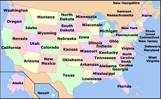 Mapa Politico De Estados Unidos Buscar Con Google Kansas Missouri Nebraska Illinois