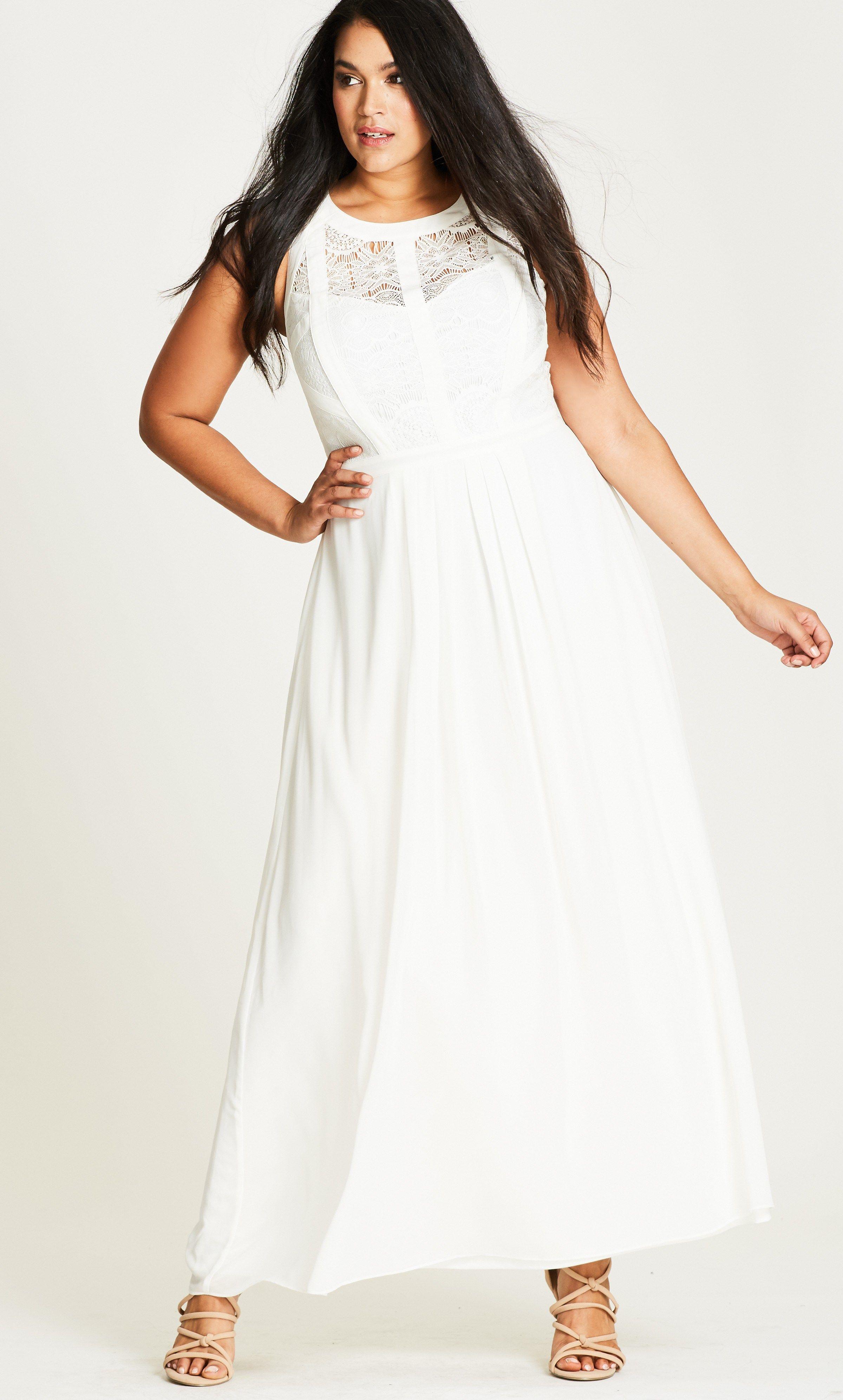 12 plus size white party dresses