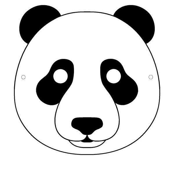 Masque De Panda A Imprimer Masque Animaux Masque Anniversaire