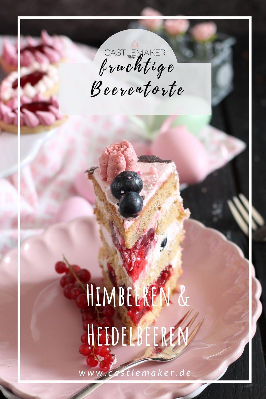 Fruchtige Torte Im Ombre Look Mit Himbeeren Heidelbeeren Drip Cake Mit Bildern Sommer Torte Susse Backerei Lebensmittel Essen