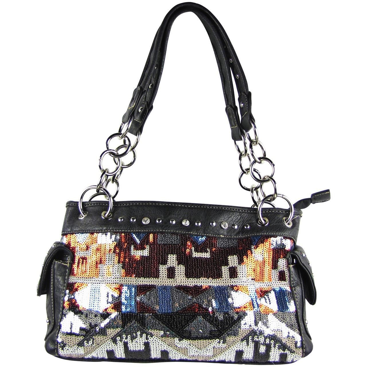202eab4bc0 Black sequence tribal stitched shoulder handbag concealed carry western  purse jpg 1280x1280 Concealed carry handbags wholesale
