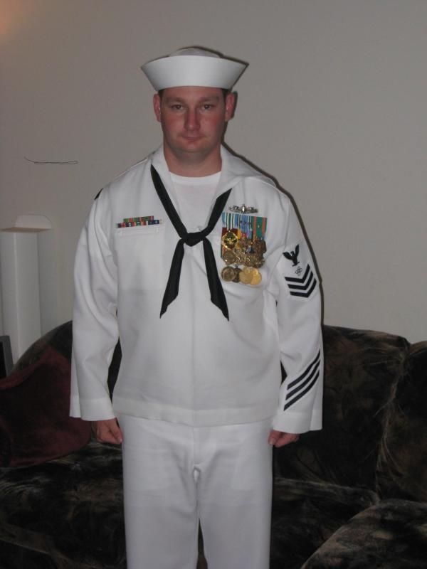 Navy full dress medals placement