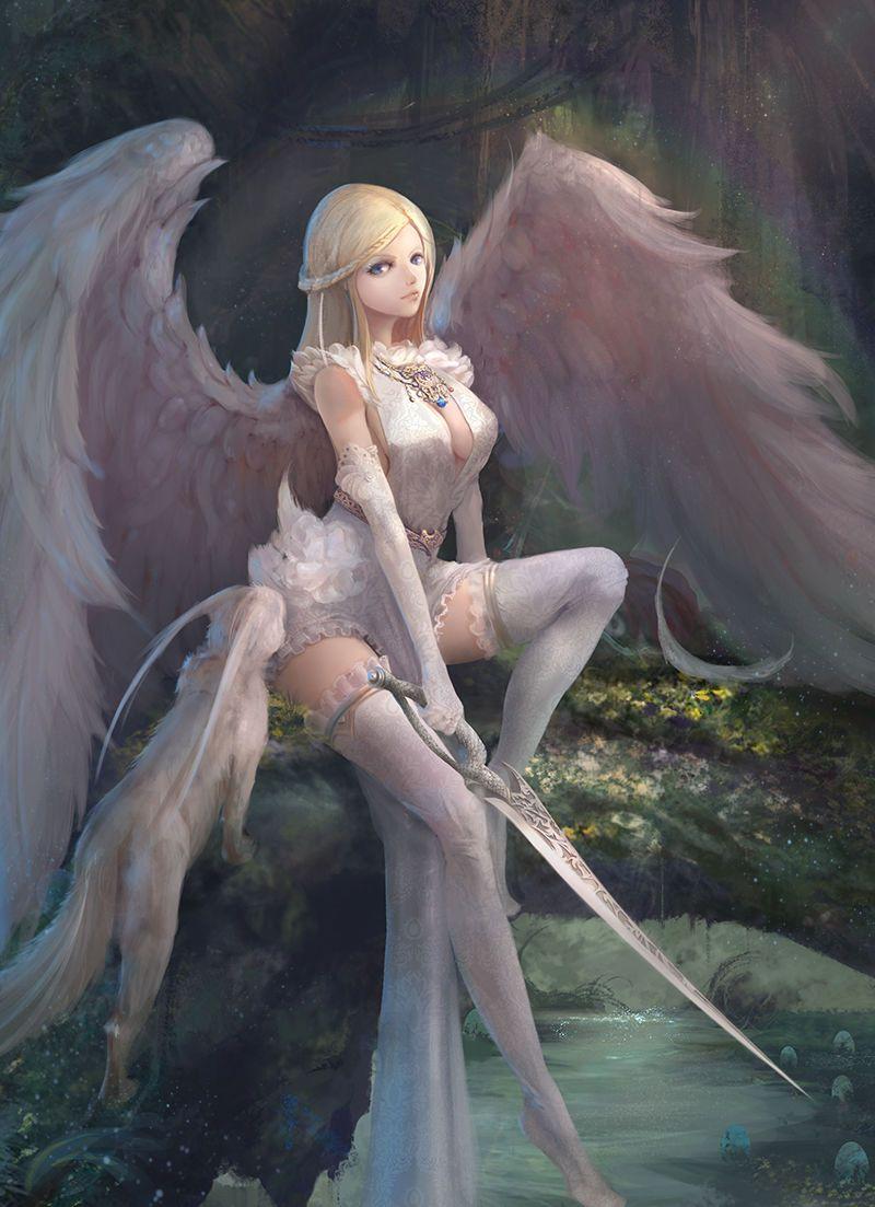 Девушка ангел арт