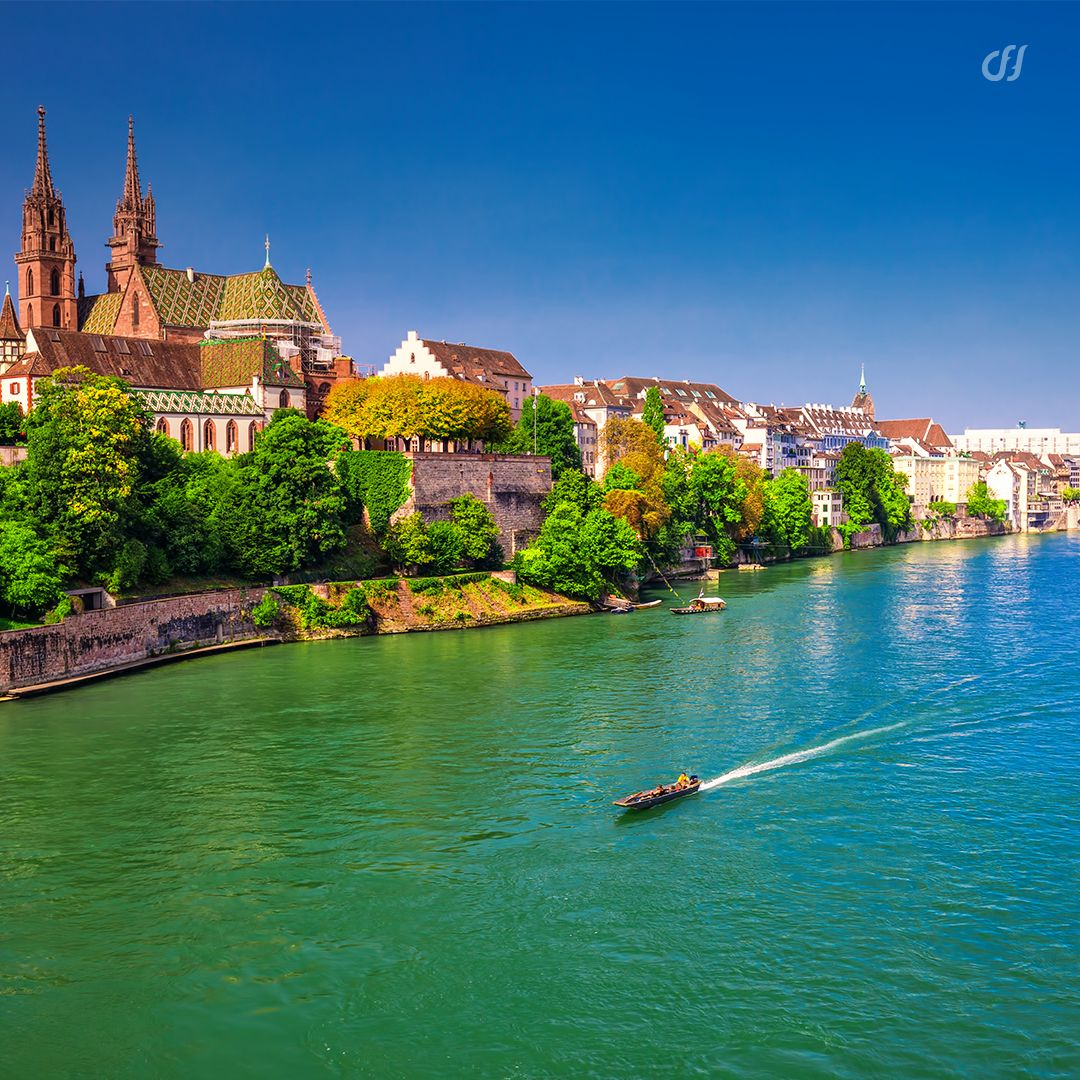 Basel is situated in the heart of Europe, bordering