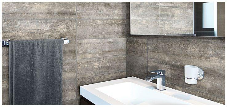 N A Wood Look Tile White Bathroom Tiles Bathroom Flooring