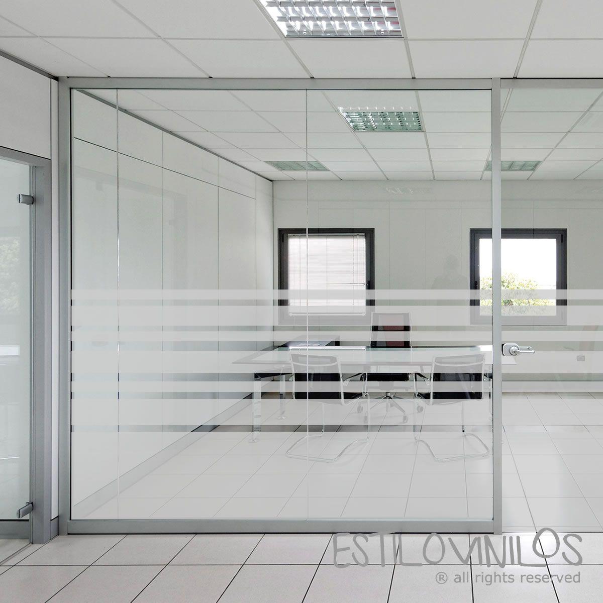 pelicula decorativa para oficinas | esmerilado oficina rayas ...