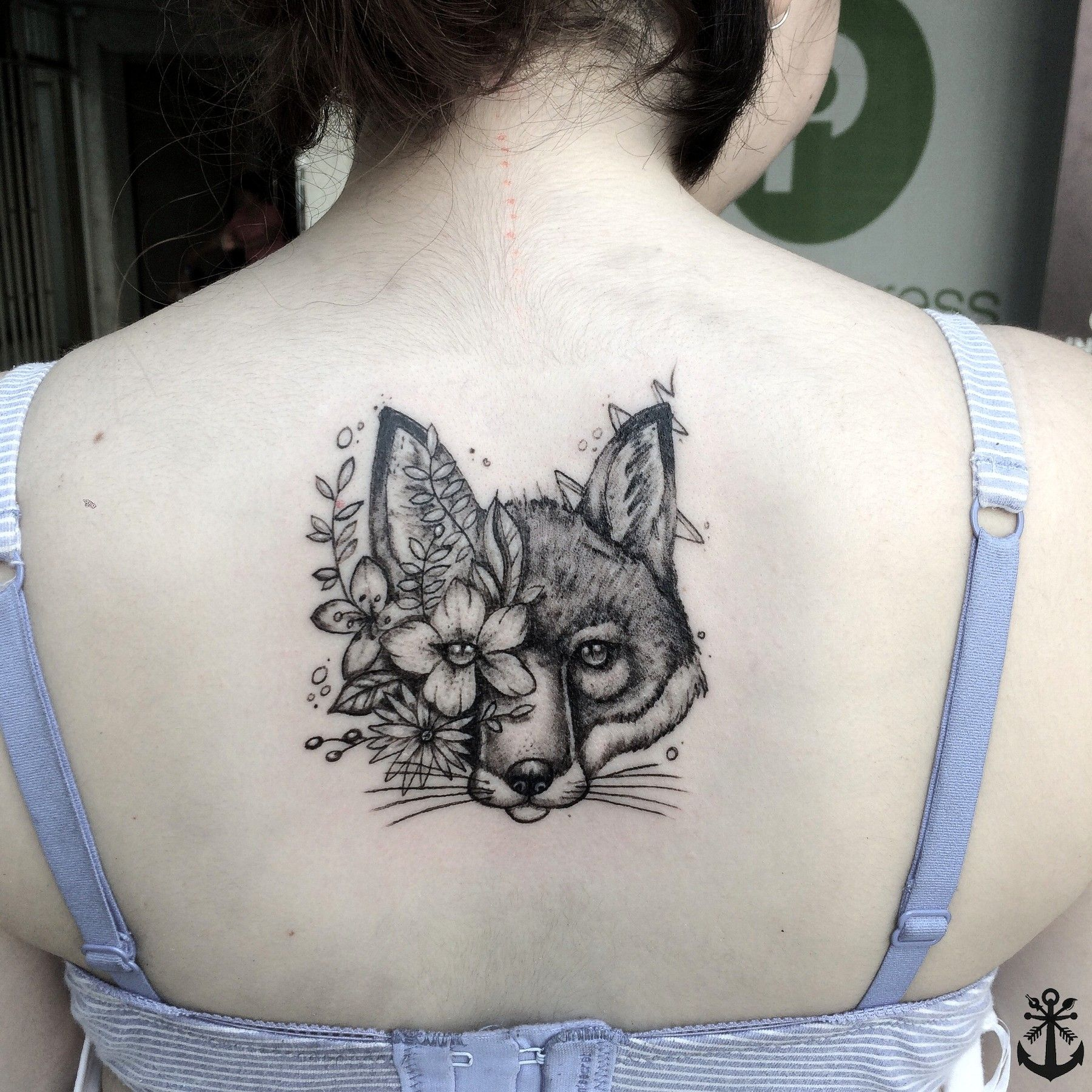 Fox Tattoo / Tatuaje Zorro / black & grey tattoo / flowers tattoo by Felipe A. Tapia