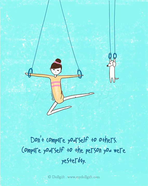 Don't Compare, by Charllotte Ashlie.    Art print available, www.mydollgift.com  #art #drawing #illustration #dog #inspiration #quotes