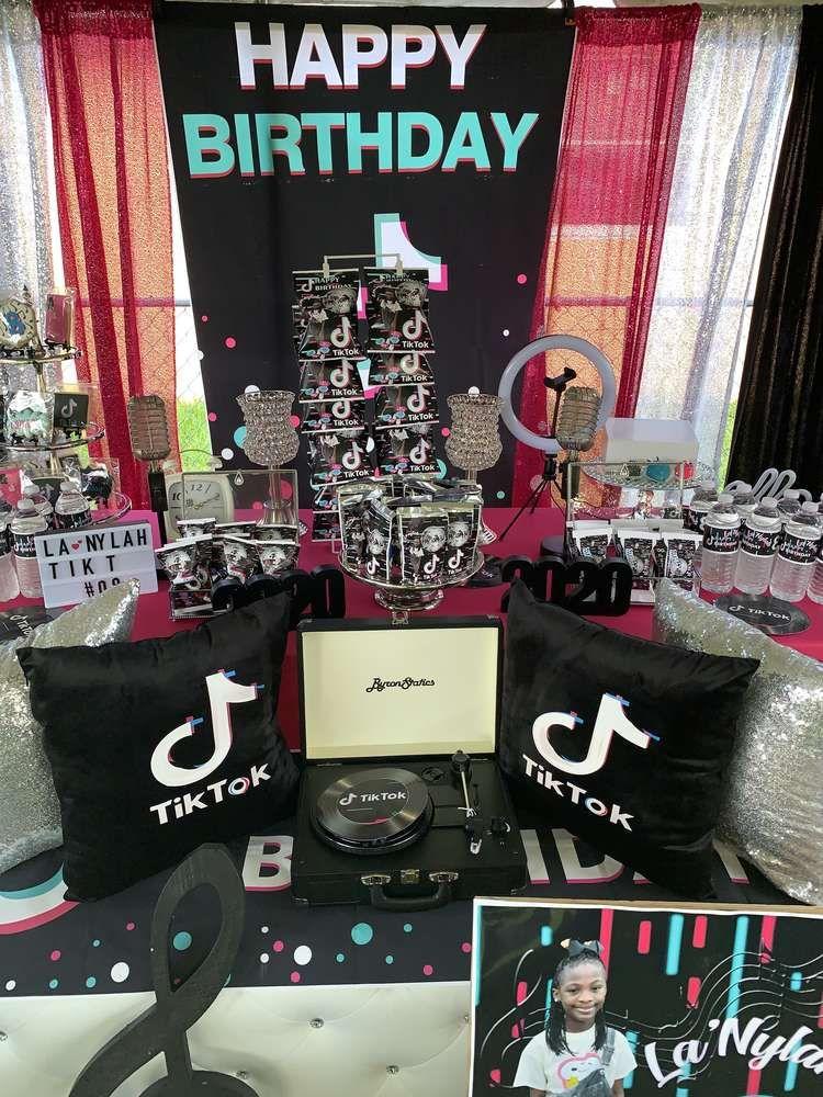 Tik Tok Birthday Party Ideas Photo 9 Of 13 Birthday Birthday Party Birthday Parties
