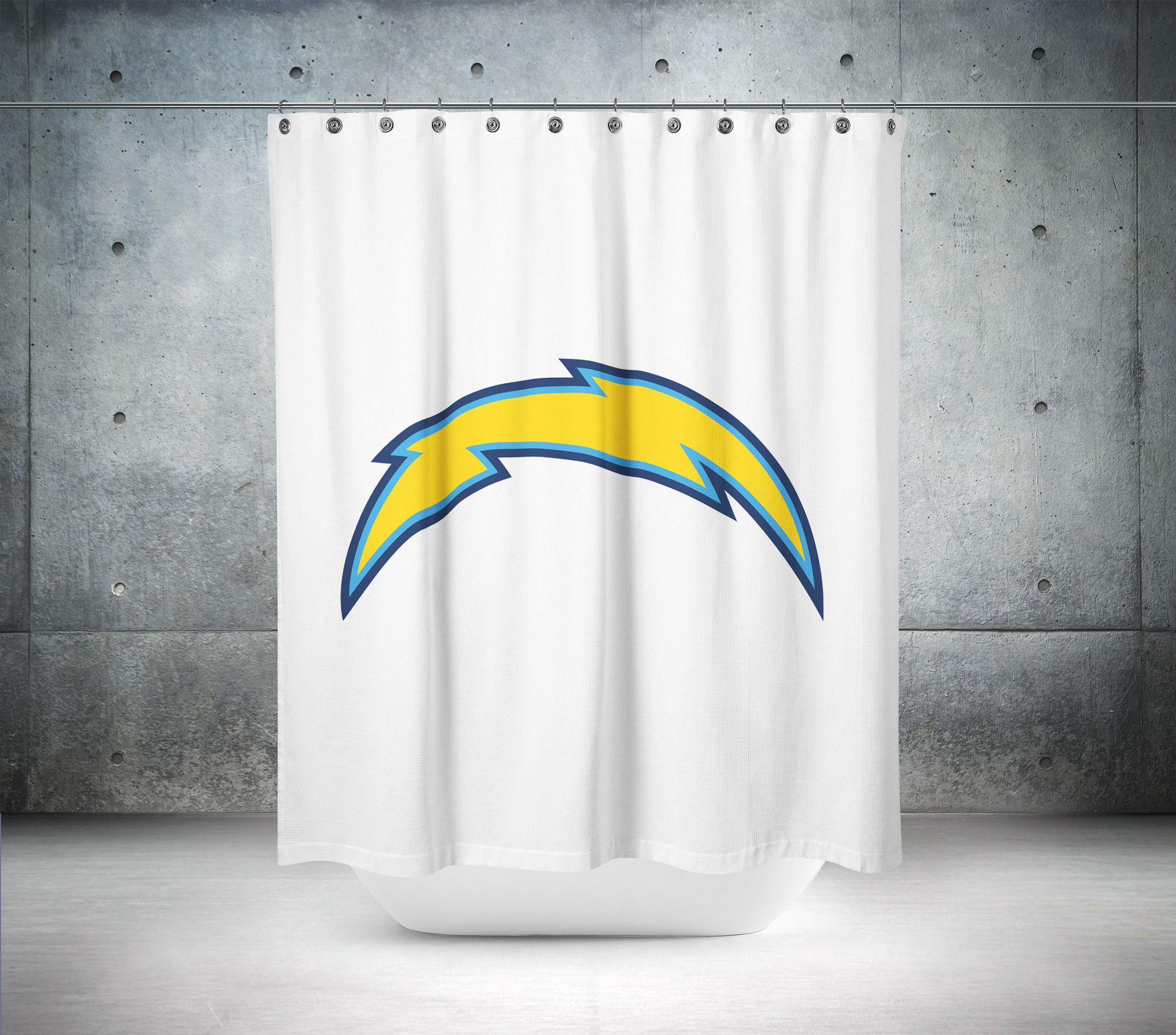 San Diego Chargers Nfl Shower Curtain Curtains Shower Curtain Chargers Nfl