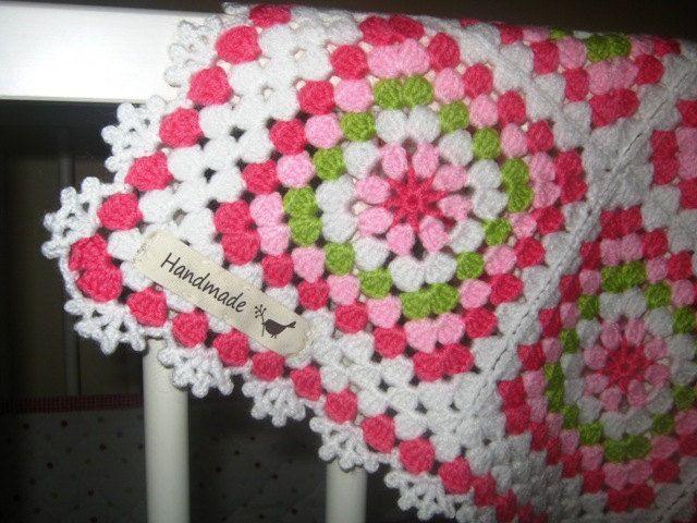 Crochet baby afghan. | TO granny Square | Pinterest | Manta, Mantita ...