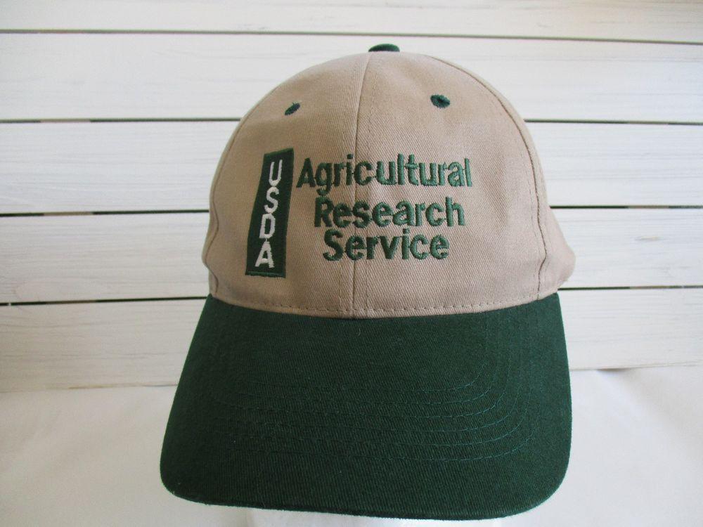 USDA Agricultural Research Service Snapback Baseball Hat Cap Brown Green   sportsman  BaseballCap 35f3df8fc8c0