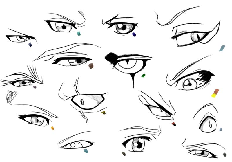Tutorial Eyes Male for Manga by nekodeedy (doesn't seem