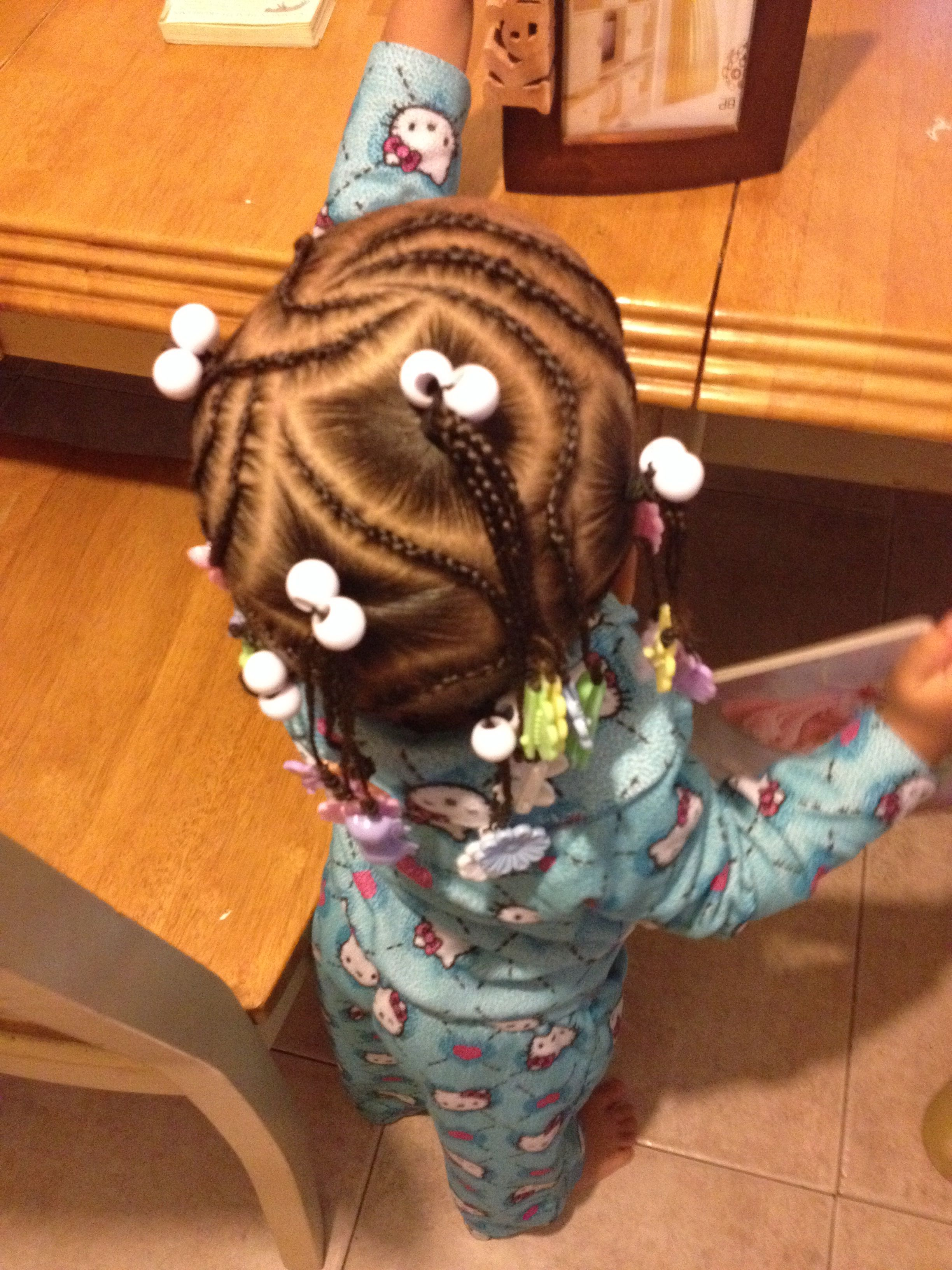 mixed hairstyles braids and barrettes | hairstyles for mixed