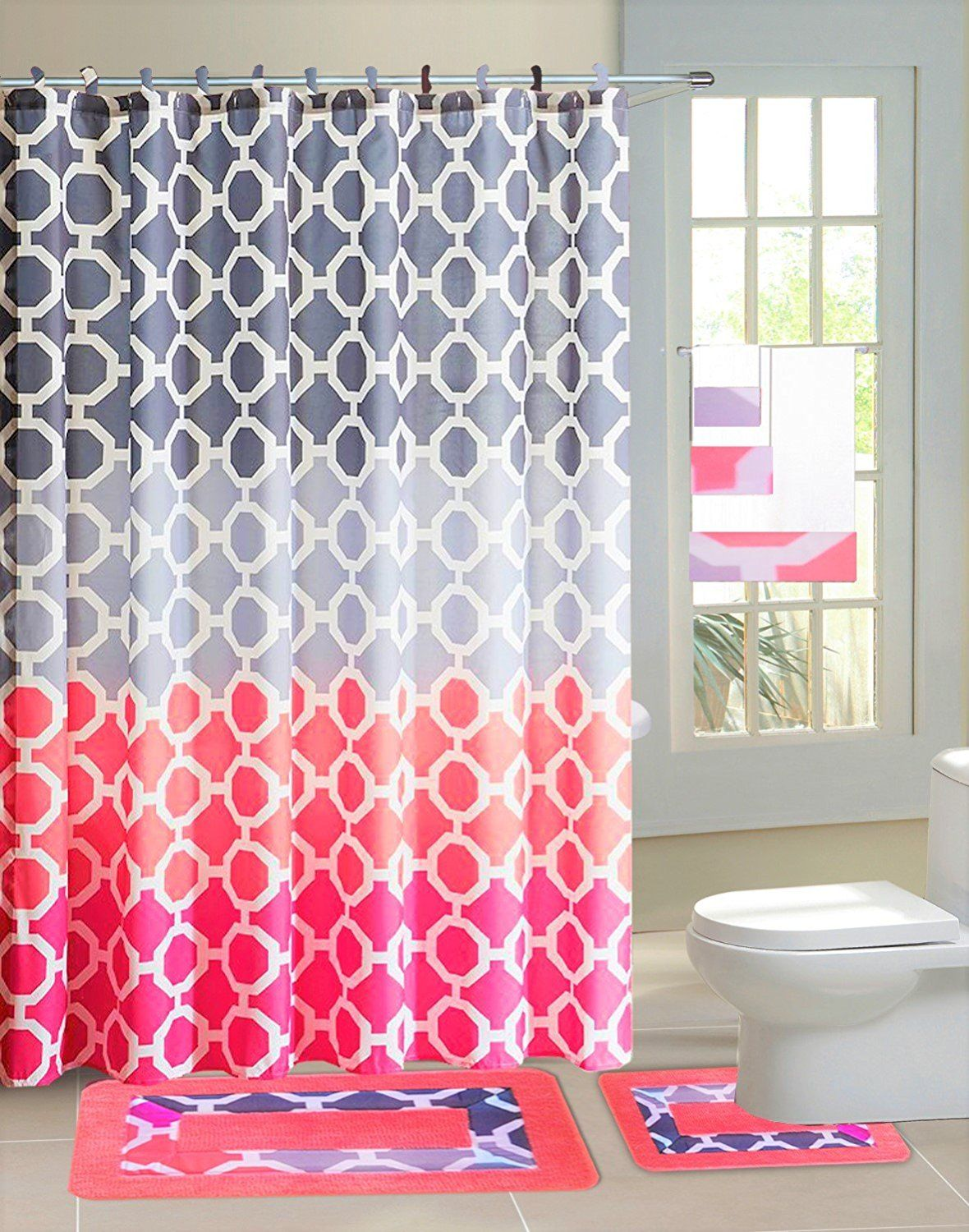 77 New Bathroom Shower Curtains Mats In 2020 Fabric Shower Curtains Pink Shower Curtains Bathroom Shower Curtains