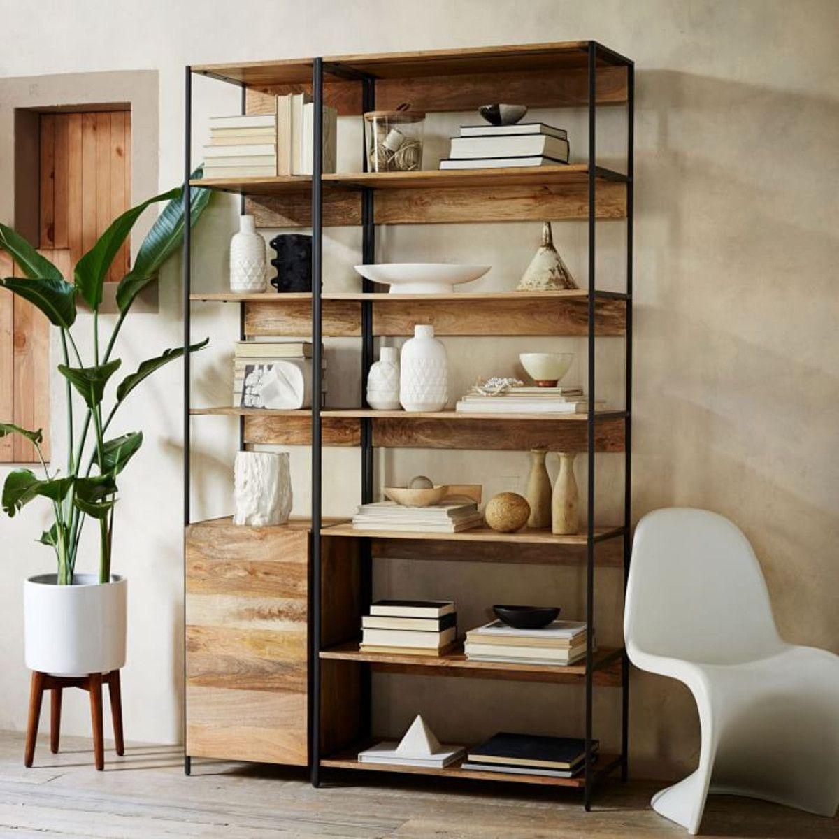 Industrial Modular 33 Bookshelf West Elm Ca Living Room Diy Living Room Shelves Living Room Storage