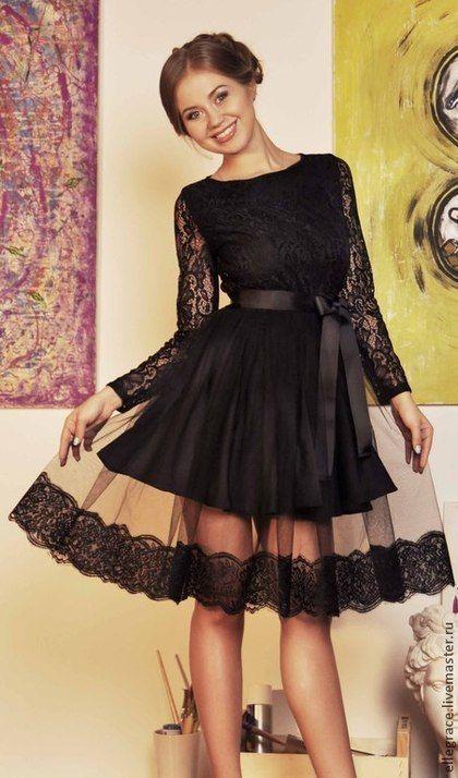 cce0a6ebf06 Купить или заказать Платье фатин-кружево в интернет-магазине на Ярмарке  Мастеров. Шикарное