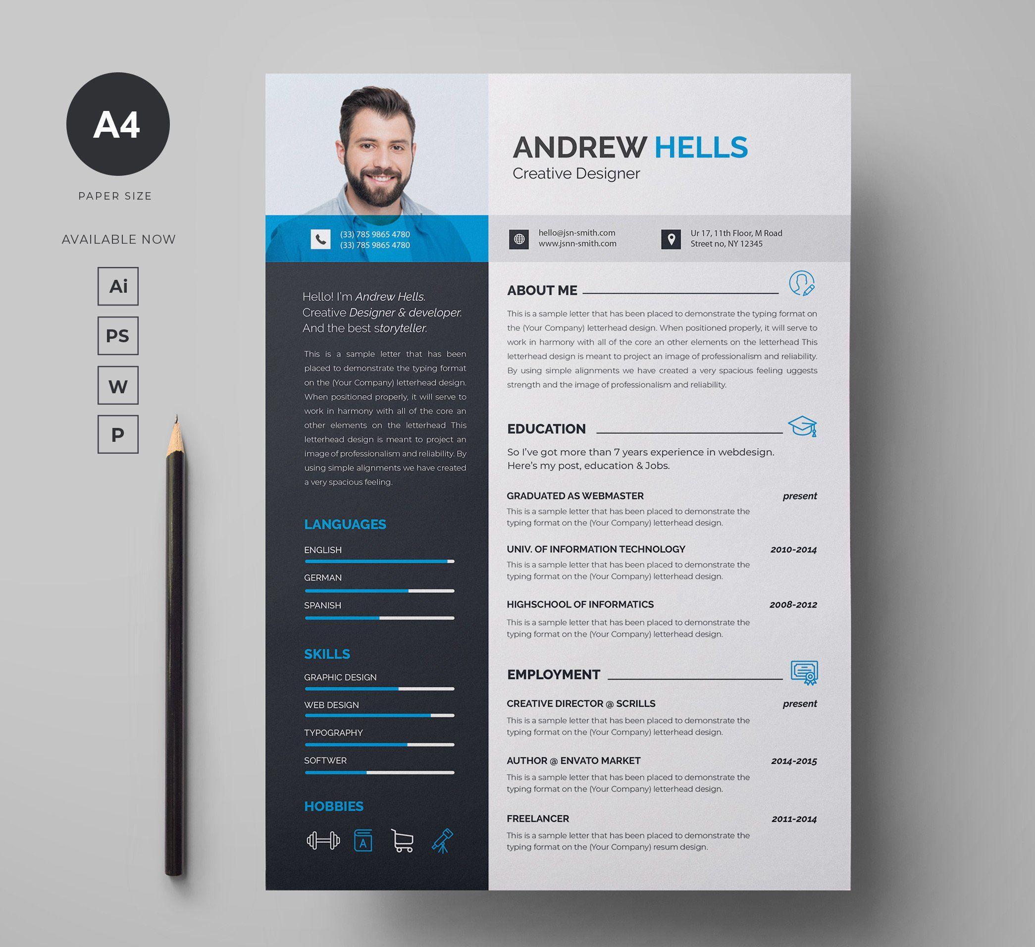 Resume Cover Letter Cover Letter For Resume Letterhead Design Cover Letter Template