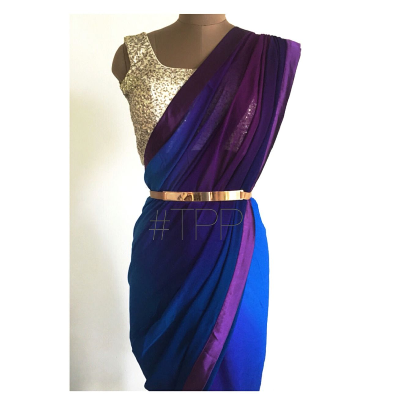 {The Night Ombré Sari}  Slaying it!  Shop on our website. Link in bio.  #ombre #blue #purple #sari #thepeachproject #indianfashion #desistyle #saristyle #sariblouse #americandesi #indiansummer #indianfashion #indianwedding #desibridesmaids #torontolife #californiagirls #dubaidesigner #bollywood #trousseau #sangeet #cocktail