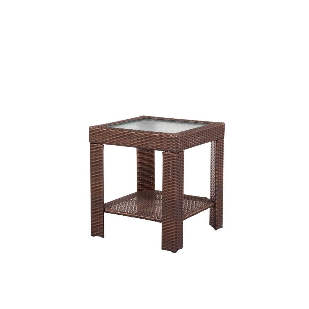 Hampton bay beverly patio accent table outdoors pinterest
