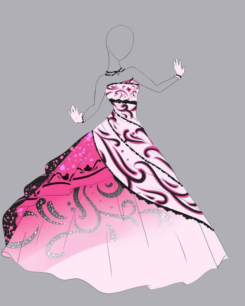 Drawing Clothes, Dress Sketches, Anime Dress