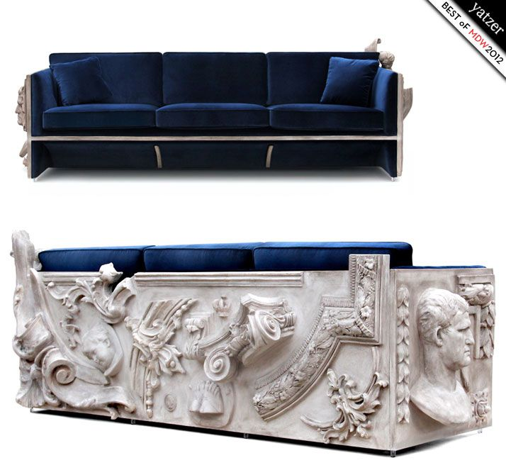Ltd. edition Versailles sofa by Boca do Lobo. Best of Milan Design Week 2012 by Yatzer. http://www.bocadolobo.com/ #design #MDW