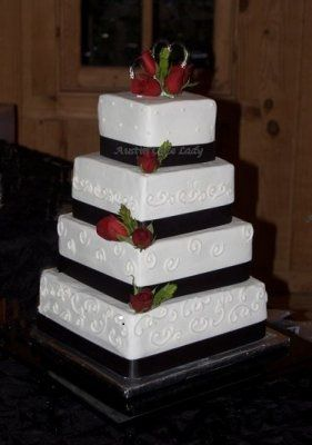 This beautiful cake was a 'pick up and stack'! What an awesome and easy job they did!