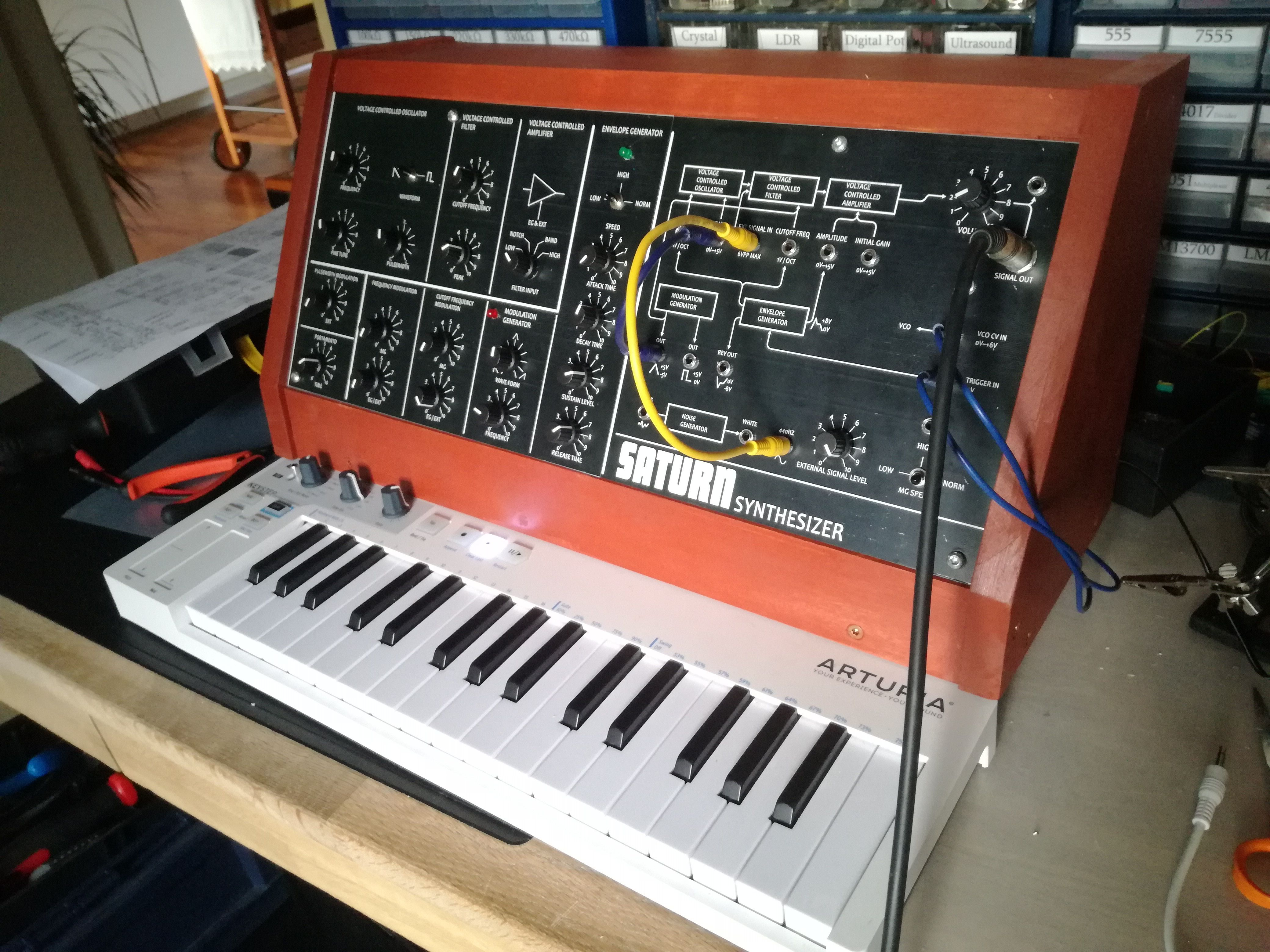 My first DIY Synthesizer :) [Progress pictures