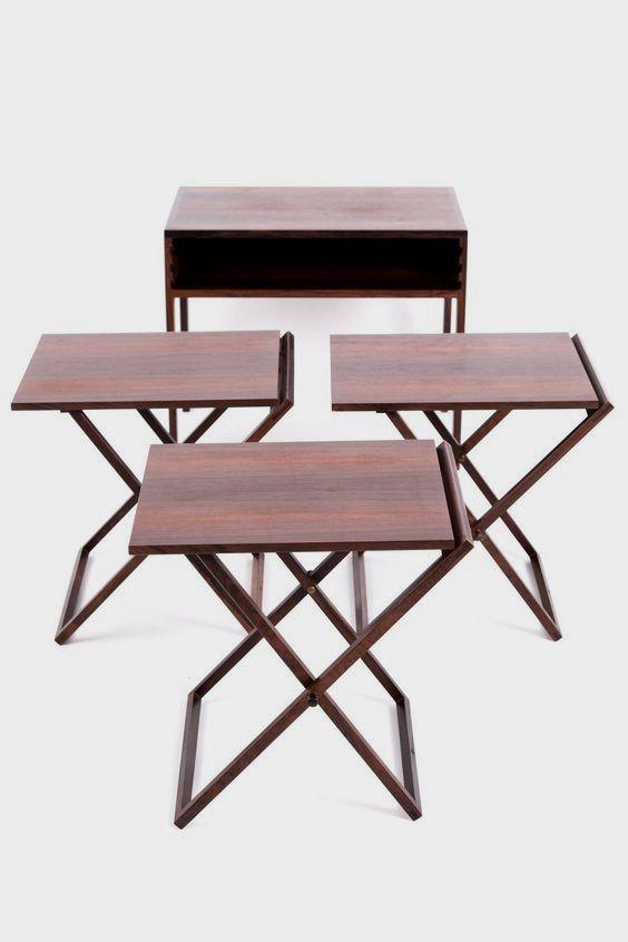 Illum Wikkelsø, Folding Table Set in Rosewood 5