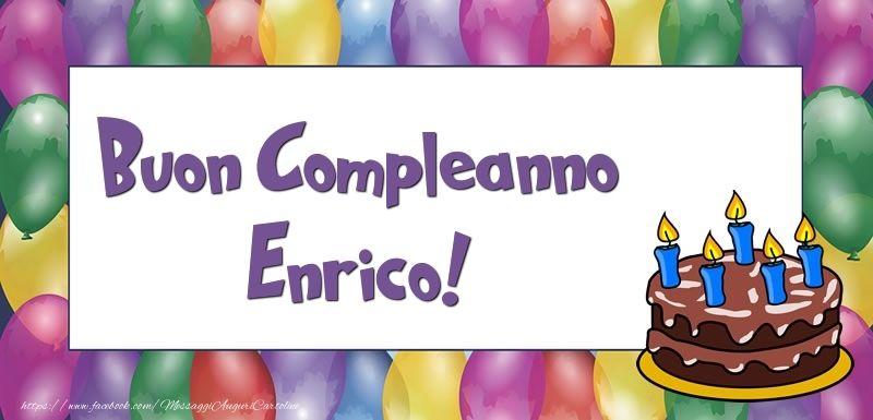 Buon Compleanno Enrico Buon Compleanno Cartolina Di