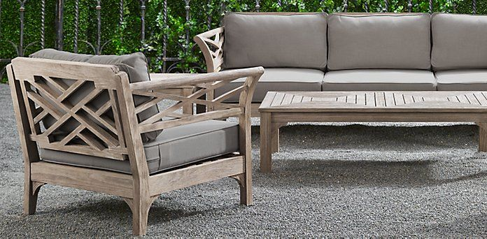 kingston outdoor furniture collection from restoration hardware