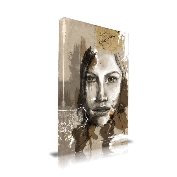 'Lost' Portrait Graphic Art on Wrapped Canvas