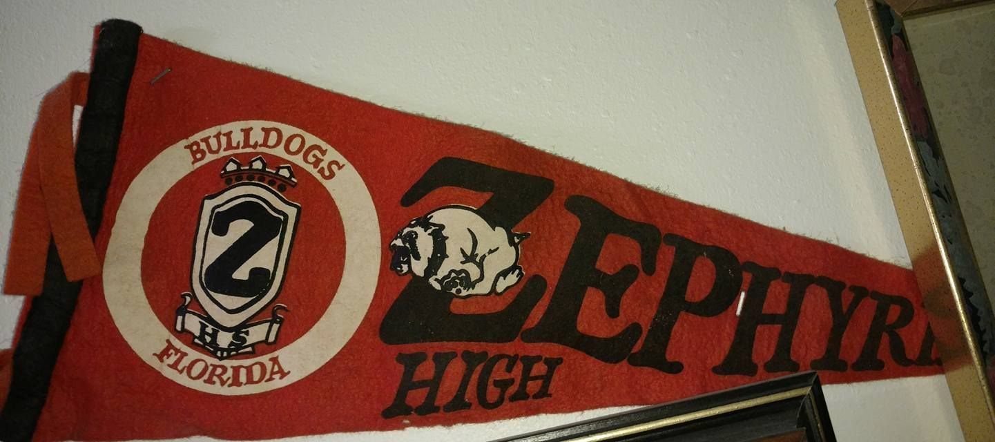 Pasco County Florida Zephyrhills High School Pennant Pasco