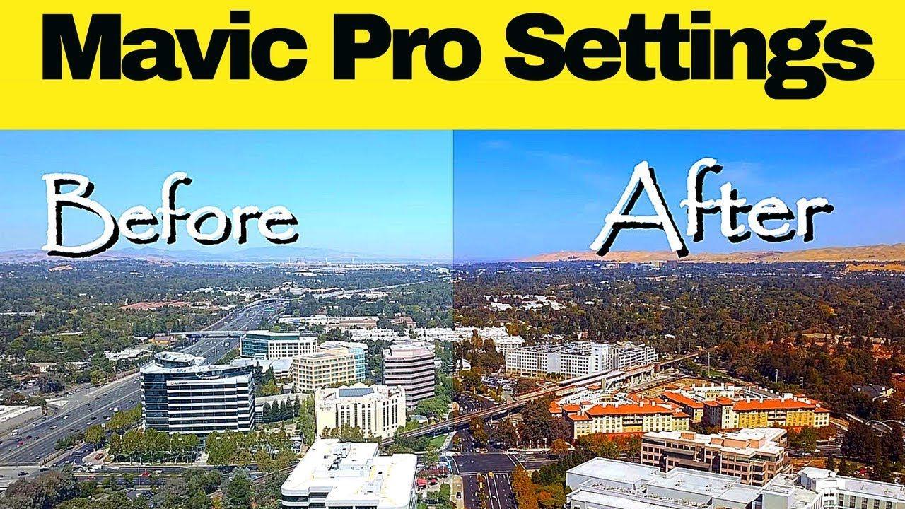 BEST DJI Mavic Pro Drone Settings For FILMMAKING + fr