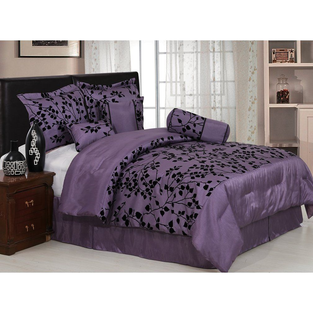 Black and Purple Bedding Sets