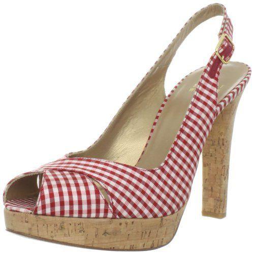 Stuart Weitzman Women's Exsling Platform Sandal,Red Mini