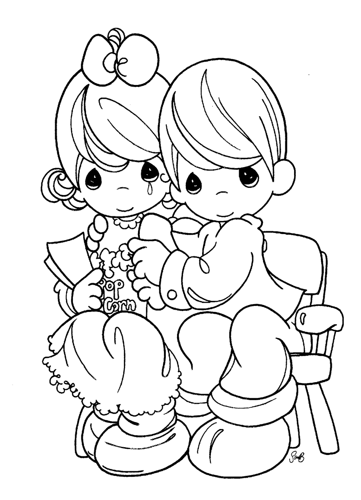 Precious Moments for Love Coloring Pages   Coloring pages ...