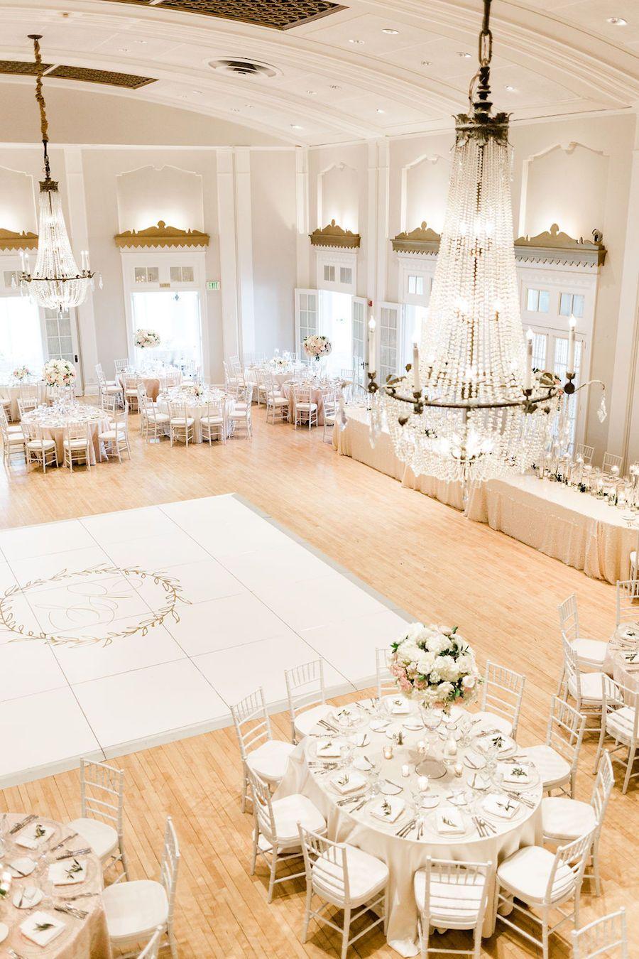 Dreamy Classic White Country Club Wedding with Ballroom Elegance - MODwedding