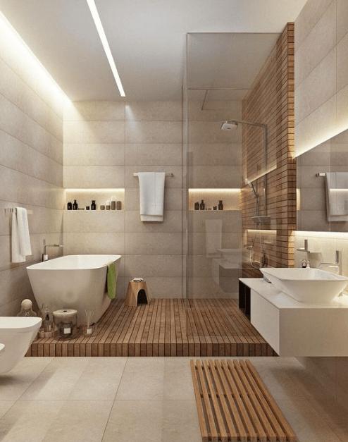 28 Best Minimalist Modern Bathroom Ideas - VivieHo
