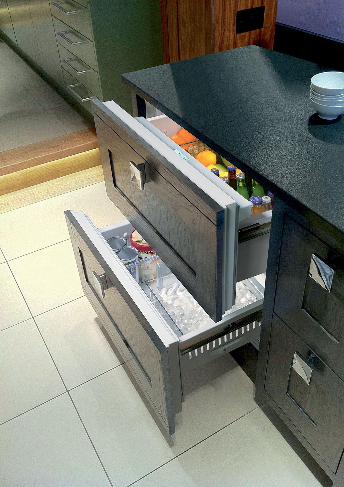 Sub Zero 36 Designer Refrigerator Freezer Drawers With Ice Maker Panel Ready Id 36ci Refrigerator Drawers Refrigerator Freezer Fridge Drawers