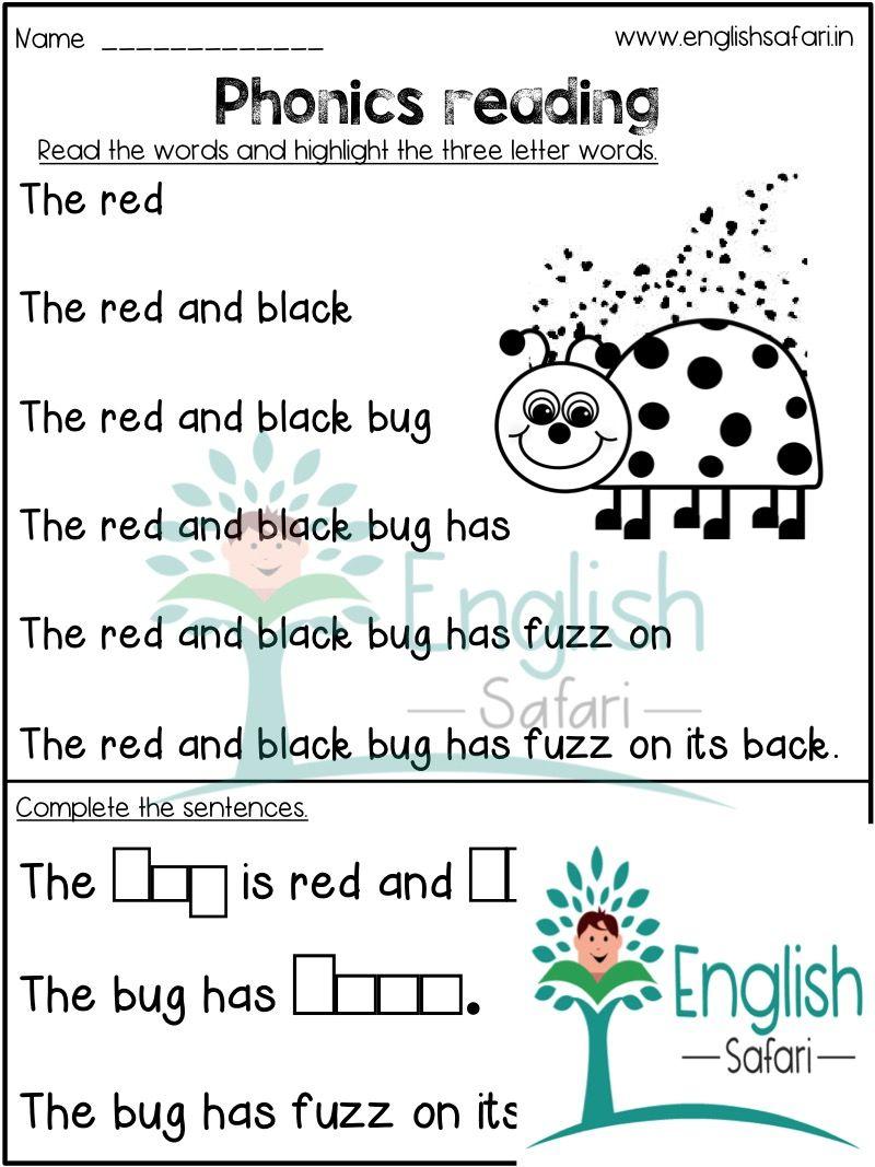 Free Kindergarten Worksheets For Reading Www Englishsafari In In 2020 Kindergarten Reading Worksheets Kindergarten Reading Reading Worksheets