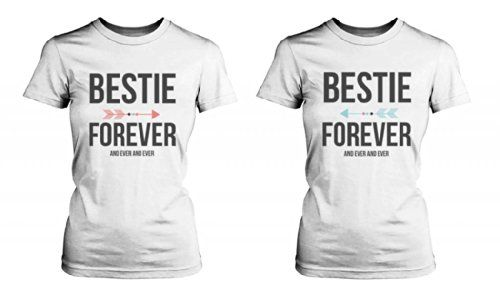 bf8f9101b Best Friend Shirts - Bestie Forever and Ever Matching White T-Shirts love  http