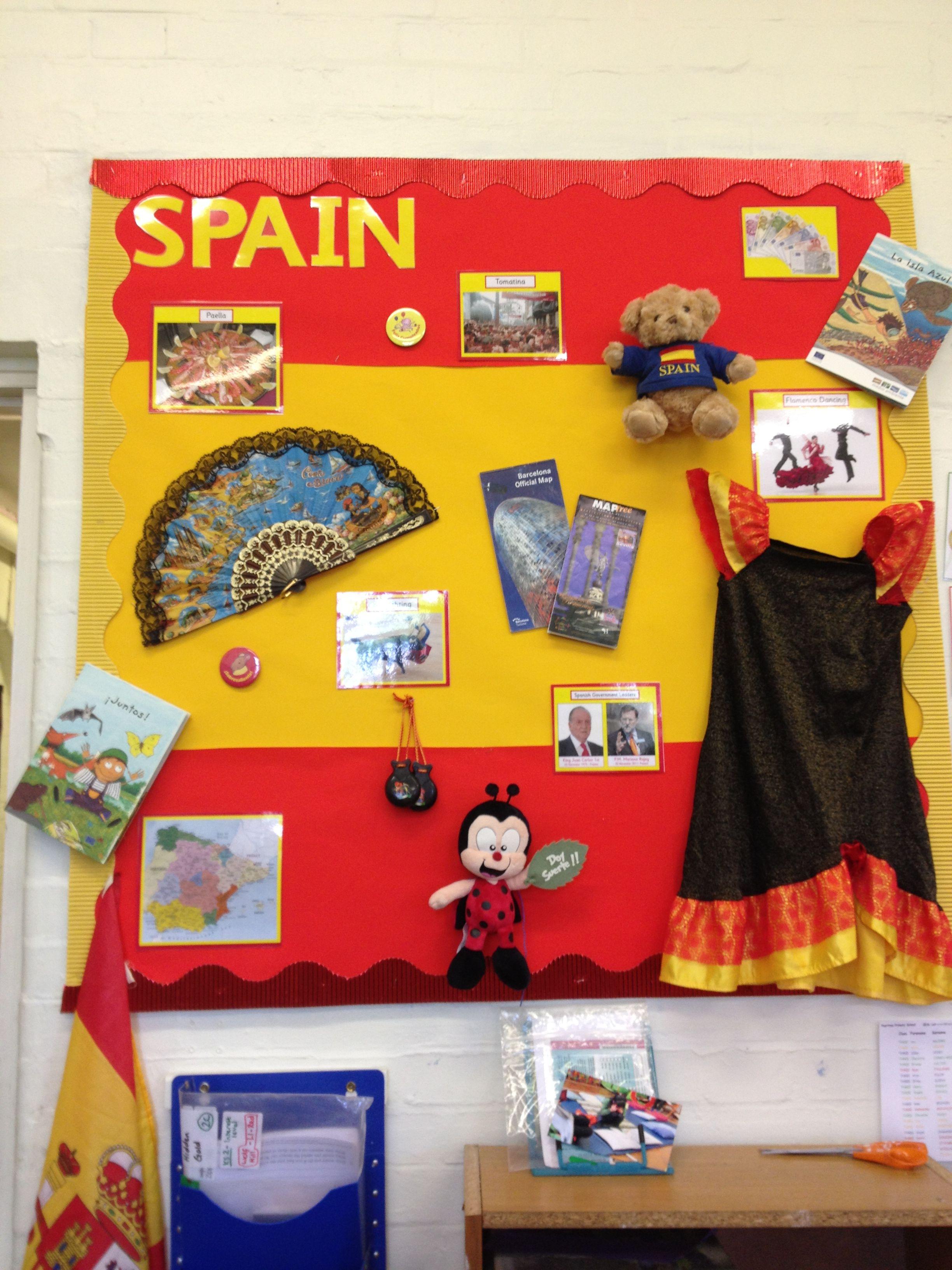 Year 3 Spain Display 2012 2013 Teaching Displays