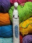 a crocheted crochet hook. lol