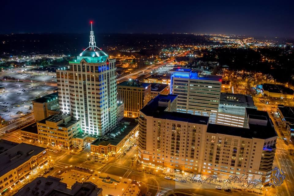 Virginia Beach Town Center At Night
