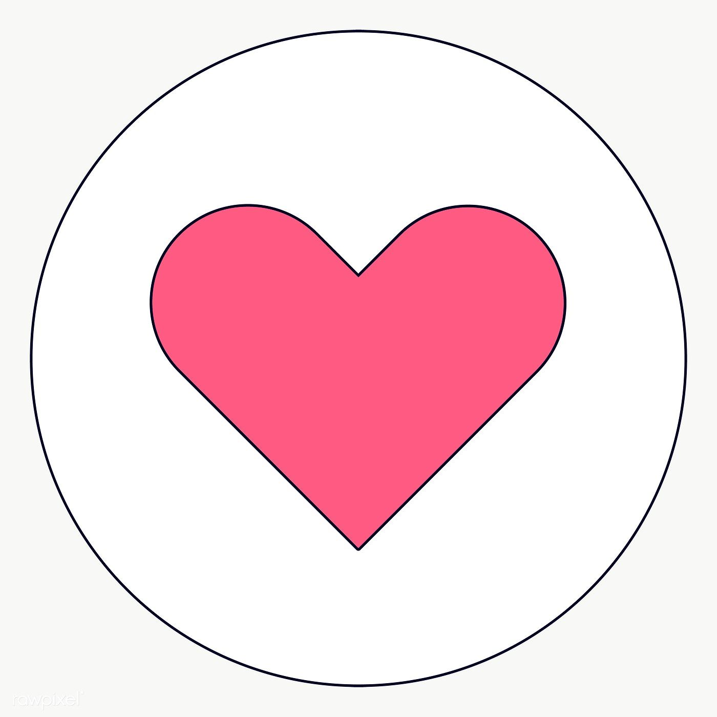 Heart Love Icon On Transparent Vector Premium Image By Rawpixel Com Te Icon Social Media Icons Free Web Design Resources