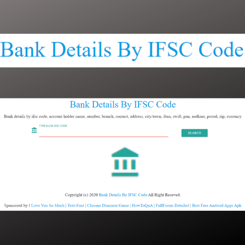 Bank Details By Ifsc Code In 2020 Coding Postal Love You